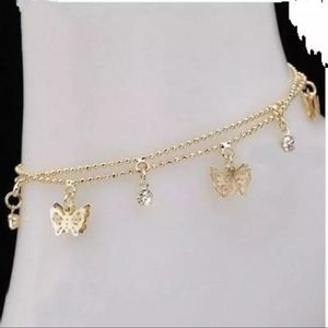Butterfly anklet braclet